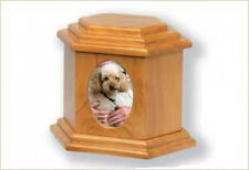 Devotion Series Wood Pet Urn with Photo Frame