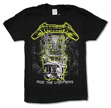"""METALLICA """"RIDE THE LIGHTNING NEON OUTLINE"""" BLACK T-SHIRT NEW OFFICIAL ADULT"""