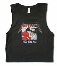"METALLICA ""KILL EM ALL"" CHARCOAL GREY MUSCLE SHIRT NEW OFFICIAL JUNIORS"