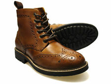 Red Tape Devlin Brown Leather Brogue Boots UK 7-12 RRP £60 Free UK P&P