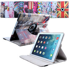 LEATHER 360 DEGREE ROTATING CASE COVER STAND FOR APPLE IPAD AIR MINI 2 3 4