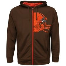 Cleveland Browns Full Zip Hoodie Coverage Sack Synthetic Majestic Plus Sizes NFL