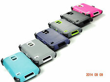 SHOCKPROOF HYBRID RUGGED DEFENDER CASE FOR SAMSUNG GALAXY S5 W/ SCREEN PROTECTOR