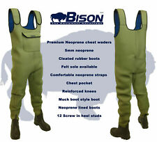 NEOPRENE CHEST WADERS ,  BISON 5mm STANDARD OR FULL BODIED