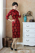Red Womens Cheongsam School's Opening Ceremony Dress Evening Party Dress C2507-4
