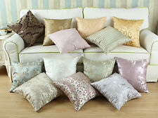 """18"""" X 18"""" Cushion Covers Pillows Shell Various Floral Stripes Designs Reversible"""