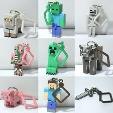 Funny 4inch/10cm Jazwares Game Minecraft 3D Backpack Clips Keychain Keyring Toys
