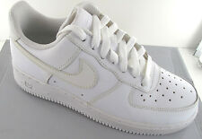 Nike Air Force 1 '07  Mens White Leather Athletic Shoe  - NWD