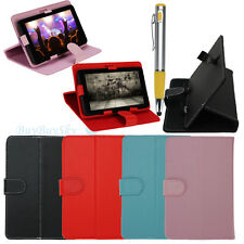 "Universal Folio Smart Case Cover Skin Stand for 7"" Tablet PC Phablet w/ Stylus"