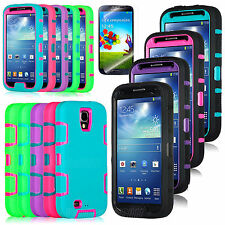 Heavy Duty Hybrid Rugged Rubber Hard Case Cover For Samsung Galaxy S IV S4 i9500