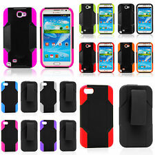 Apple iPhone 4/4S Heavy Duty Hybrid Case with Belt Clip Holster and Kickstand