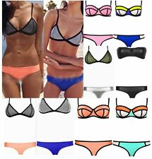 Sexy Bikini Women Bathing Bra Waterproof Neoprene Triangle Swimsuit Swimwear