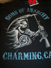 SONS OF ANARCHY BLUE TONE REAPER CHARMING, CA. LONG SLEEVE T-SHIRT NEW !