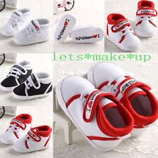 Baby Girls Infant Toddler Soft Sole Shoes Sneaker Newborn 0-6-12-18 PaPa MaMa