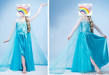 Disney Cosplay Girls FROZEN ELSA QUEEN Princess Birthday Costume Party Dress