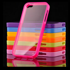 New Hard Back Crystal Case Cover for Apple iPhone with FREE Screen Protector