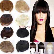 Women Lady Black Brown Blonde Bangs Clip In On Bang Fringe Hair Extensions mm