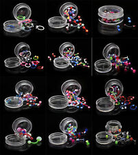 Wholesale Lots 10pcs Body Piercing Jewelry Nose Belly Eyebrow Nipple + Display