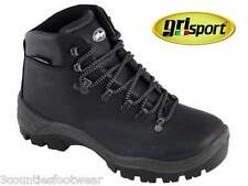 MENS WALKING BOOTS BLACK GRISPORT HIKING BOOTS WATERPROOF - ALL SIZES -