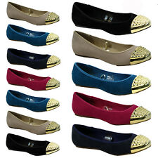 NEW WOMENS LADIES FLAT BALLERINA BALLET CASUAL LOAFERS SLIP ON PUMPS SHOES DANCE