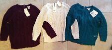 Lucky Brand Cotton 3/4-Sleeve Back Zip Sweater - Many Colors & Sizes MSRP $59+