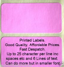PINK personalised address Labels
