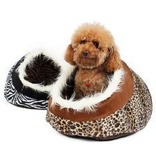 Pet Dog House Igloo Kennel Bed Puppy Dog Cat Igloo Cozy Kennel Bed Mat House Pad