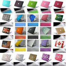 Rubberized Hard Case Shell +Keyboard Cover for Macbook Pro 13/15 Air 11/13 inch