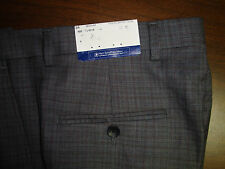 NWT $150 HART SCHAFFNER MARX WOOL MODERN DRESS PANT MENS 38 Gray PLEATED NEW