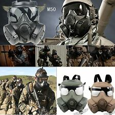 American M50 gas mask double filter fan CS edition Perspiration Dust Face Guard