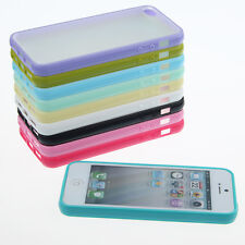 Jelly Color TPU Bumper Frame Matte Clear Back Cover Hard PC Case for iPhone 5 5G
