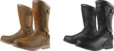 Mens Icon 1000 Waterproof Leather Prep Motorcycle Riding Street Racing Boots
