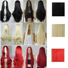 Lay Girls Cosplay Weave Wig Long Curly Wavy/Straight Part Bang Hair Costume Wig