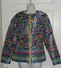 NWT LILLY PULITZER NAVY REVERSIBLE NOT TOO CATTY LILAH JACKET M L  $238