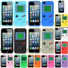 For iPhone 5 5th 3D Gameboy Soft Rubber Case Silicone Skin Cover+LCD Protector