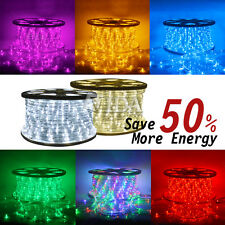 150' Ft Xmas LED Rope Light 110V Yard Home Party Decorative In/Outdoor