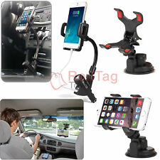 Car Windshield Suction Cup+Cigarette Lighter USB Charger Mount Holder For Phone