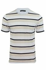 Mens T-Shirt by FCUK/French Connection Striped Short Sleeved