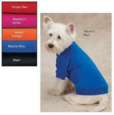 Zack & Zoey Basic Dog Tee Pet Puppy Plain Solid T Shirt Apparel Bright Summer