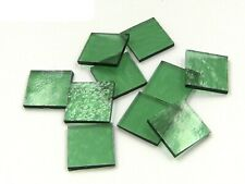 Sea Green Cathedral Rough Rolled Mosaic Glass Tile - Cut Shapes - Spectrum - Lg