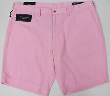 "NWT $69 Polo Ralph Lauren Classic Fit 9"" Flat Chino Shorts Mens Size 40 Pink NEW"