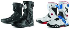 Icon Mens Raiden DKR Armored Rear Entry Zip Leather Motorcycle Riding Boots 2015