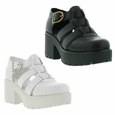 New Vagabond Dioon Womens Black White Leather Sandals Shoes Size UK 4-8