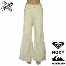 "QUIKSILVER ROXY 'SOULMATE' TROUSERS SAND SIZE UK 8 28"" WAIST SURF BNWT RRP £60"