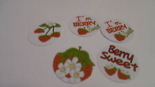 Pre Cut One Inch Bottle Cap Images! Berry Sweet Strawberry  Free Shipping