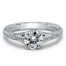 BERRICLE Sterling Silver 1.65 Carat Round CZ Solitaire Art Deco Engagement Ring