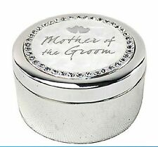 Wedding Trinket Box Round Bridesmaid, Mother of the Bride, Mother of the Groom