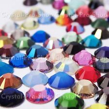 34ss Genuine Swarovski Hotfix Iron On Rhinestone nail Crystal 7.2mm ss34 setHG