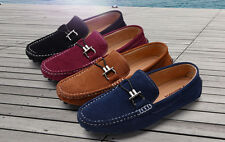 New Mens Peas Lounger Driving Moccasins slip on Casual loafer suede boat Shoes
