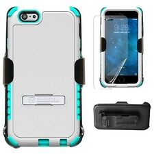 """Beyond Cell For iPhone 6 4.7"""" Plus 5.5"""" Tri Shield Kombo Case Clip Holster Stand"""